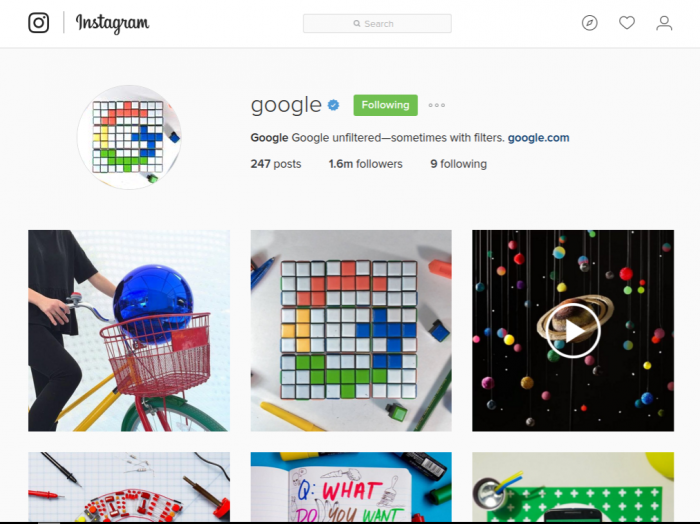 Instagram di Web